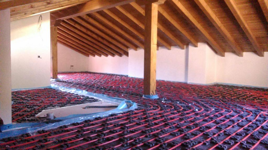 Instalación de calefacción de suelo